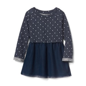 Dotty double-layer tulle dress | Gap