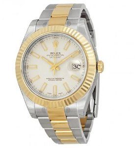 ROLEX Datejust II Cream/Ivory Dial Stainless Steel and 18K Yellow Gold Oyster Automatic Men's Watch