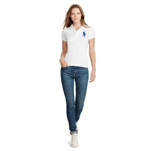 Skinny Fit Big Pony Polo Shirt - Polo Shirts � Women - RalphLauren.com