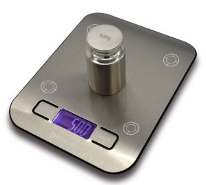 Etekcity 11lb 5kg Digital Multifunction Stainless Steel Kitchen Food Scale, Silver