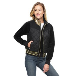 NYLON QUILTED REVERSIBLE PUFFER VEST - Juicy Couture