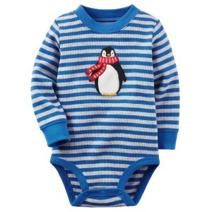 Baby Boy Thermal Penguin Bodysuit | Carters.com