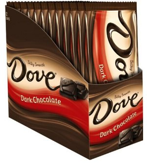 Dove Dark Chocolate Candy Bar, Sharing Size (12 Count)
