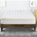 Mattress Pad with Fitted Skirt - Double Thick Extra Plush Mattress Topper - 2 Piece Pad + Memory Foam Topper
