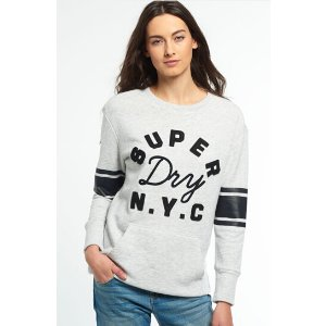 Superdry Applique Pocket Crew Top - Women's Tops