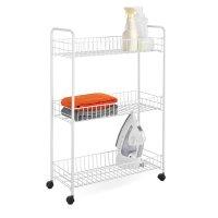 $10.88 Honey-Can-Do CRT-01149 3-Tier Laundry Cart, White