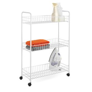 $9.77 Honey-Can-Do CRT-01149 3-Tier Laundry Cart, White