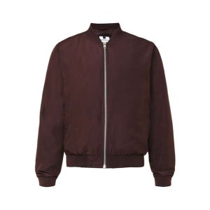 Burgundy Lightweight Bomber Jacket - Men's Coats & Jackets - Clothing - TOPMAN USA