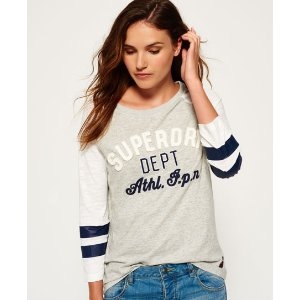 Superdry Varsity Applique Top - Women's Tops