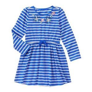 Girls Bluebell Stripe Striped Dress by Gymboree