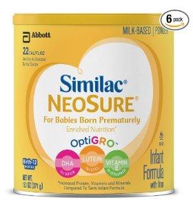 $16.7 Similac NeoSure Infant Formula with Iron, Powder, 13.1 Ounces (Pack of 6)