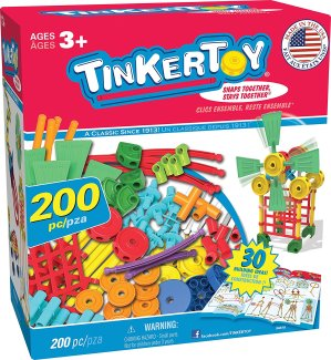 TINKERTOY 30 Model Super Building Set – 200 Pieces