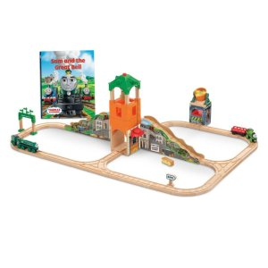 Thomas & Friends™ Wooden Railway Sam and the Great Bell Train Set | CGL51 | Fisher Price