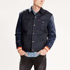 $24.00 Levi's® x NFL Giants Denim Varsity Trucker Jacket