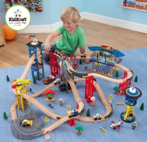 $60.75 KidKraft Super Highway Train Set