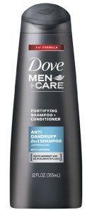 Dove Men+Care 2 in 1 Shampoo and Conditioner, Anti Dandruff, 12 oz