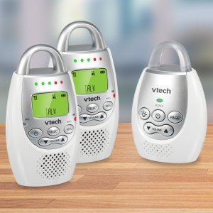 VTech DM221-2 Safe & Sound Digital Audio Baby Monitor with Two Parent Units