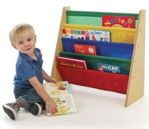 #1 Best Seller! Tot Tutors Kids' Book Rack, Primary Colors