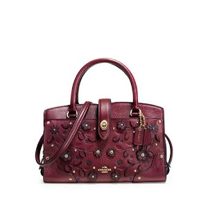 Willow Floral Mercer 24 Leather Satchel | Lord & Taylor