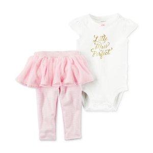 Carter's 2-Pc. Little Miss Perfect Bodysuit & Tutu Leggings Set, Baby Girls (0-24 months) - Carter's - Kids & Baby - Macy's