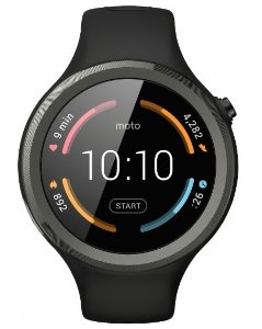 Motorola Moto 360 Sport Smartwatch 45mm Silicone - Black
