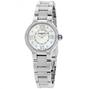 RAYMOND WEIL Noemia Mother of Pearl Diamond-Studded Dial Ladies Watch