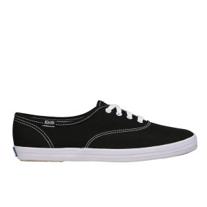 Keds Women's Champion CVO Core Canvas Trainers - Black/White - FREE UK Delivery