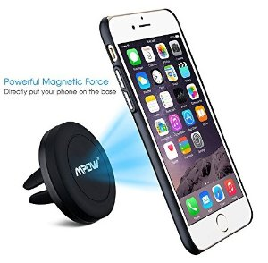 $7.99Mpow Air Vent Magnetic Car Mount, Cell Phone Holder for iPhone, Android Smartphones,Black [2 PACK]