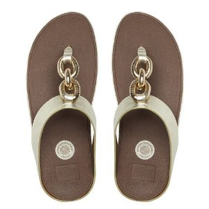 FitFlop SuperChain Ultra-Cushioned Flip Flops Pale Gold | Official FitFlop Store