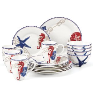 Oceanside 16-pc Dinnerware Set | Large Dinnerware Sets