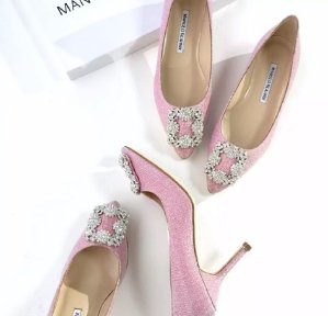 $810(Org. $985) Manolo Blahnik Hangisi Jeweled Pumps @ Saks Fifth Avenue