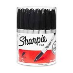 Sharpie Fine Point Permanent Marker, Black (Canister with 36 Pens)