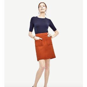 Double Pocket Skirt | Ann Taylor