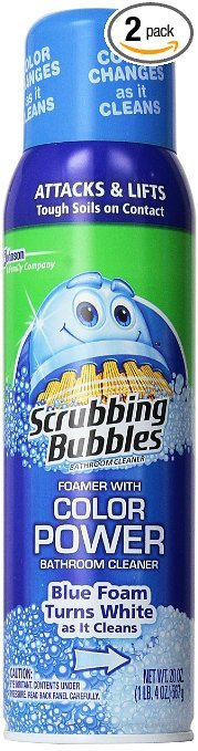 Scrubbing Bubbles Bathroom Cleaner Aerosol Color Change (Pack Of 2)