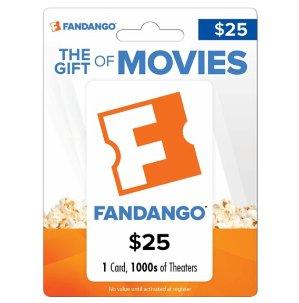 $25 包邮 加送$5 Best Buy礼卡Fandango $25 礼卡