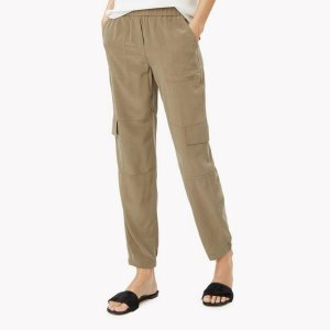 Theory Silk Cargo Pant | Theory.com