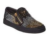 Giuseppe Zanotti Embellished Suede Slip-On Sneaker