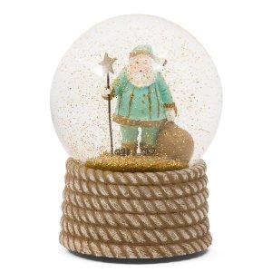 Musical Coastal Santa Snow Globe - Festive Metallics - T.J.Maxx