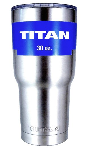 TITAN 30 oz. Premium Grade Stainless Steel Double Wall Vacuum Insulated Travel Tumbler Cup