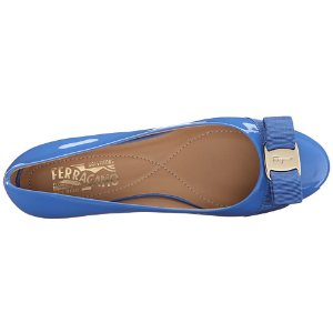 Salvatore Ferragamo Varina Bleu Indien Patent Leather - Zappos Luxury