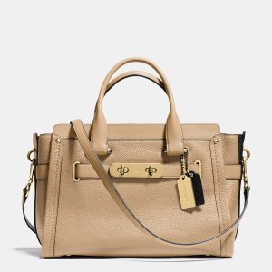 COACH Color Block Leather Swagger 37