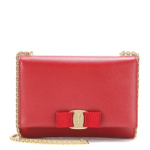 Salvatore Ferragamo - Ginny Small leather shoulder bag | mytheresa.com