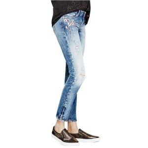 Marilyn 3-Zip Skinny Jeans