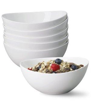 Porcelain Bowls, Set of 6 , 28 Ounce