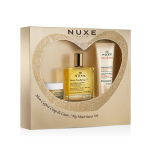 Nuxe Gift Set with Lip Balm, Dry Oil & Honey Hand Cream | unineed.com | Unineed | Premium Beauty