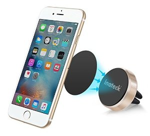 Inateck Aluminum Air Vent Magnetic Car Mount Phone Holder for iPhone 7, Samsung Galaxy S7 and Other Smartphones and GPS Devices
