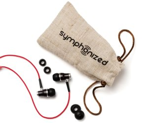 Symphonized NRG Premium Genuine Wood In-ear Headphones with Mic and Nylon Cable