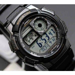 Casio AE-1000W-1AVDF 男士世界时腕表