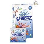 Prime members save 20% Plum Kids Organic Fruit and Veggie Shredz, Rooty Blues, 5-Count (Pack of 8)