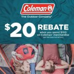 $20 Rebate On $100 Coleman Sports and Outdoor Items @ Walmart